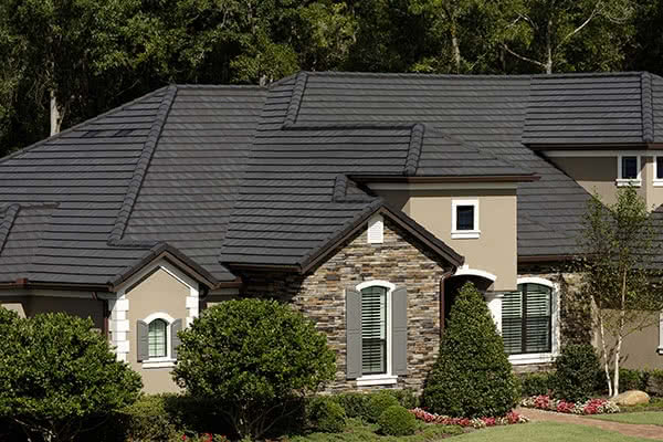Roof Tiles: Bel Air Roof Tiles on a House