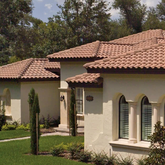 Roof Tiles: Capistrano Roof Tiles on a House