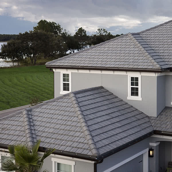 Roof Tiles: Double Eagle Bel Air Roof Tiles on a House
