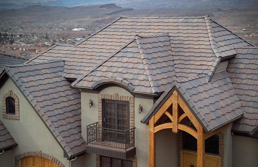 flat tile roof