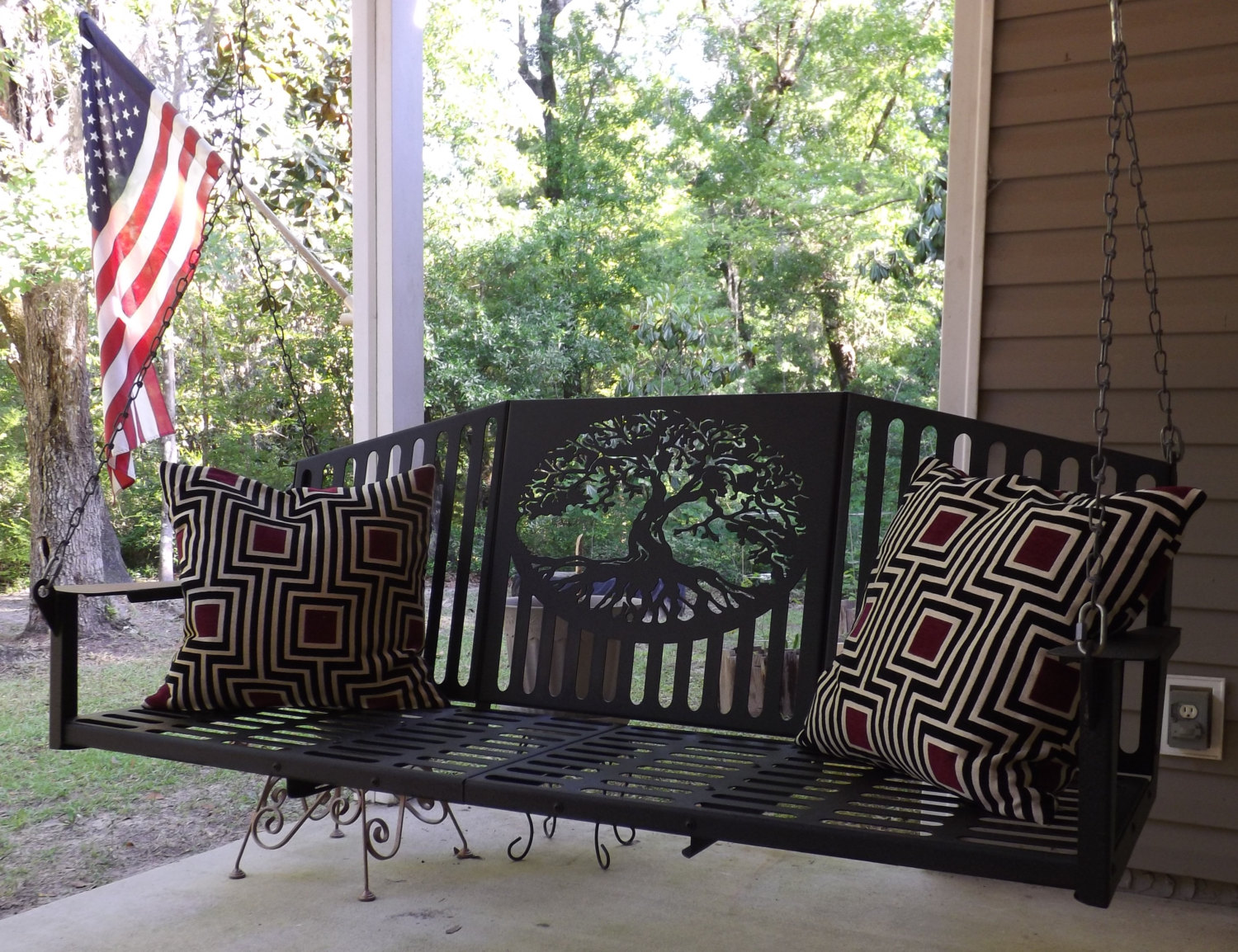 metal front porch swing - Front Porch Swing