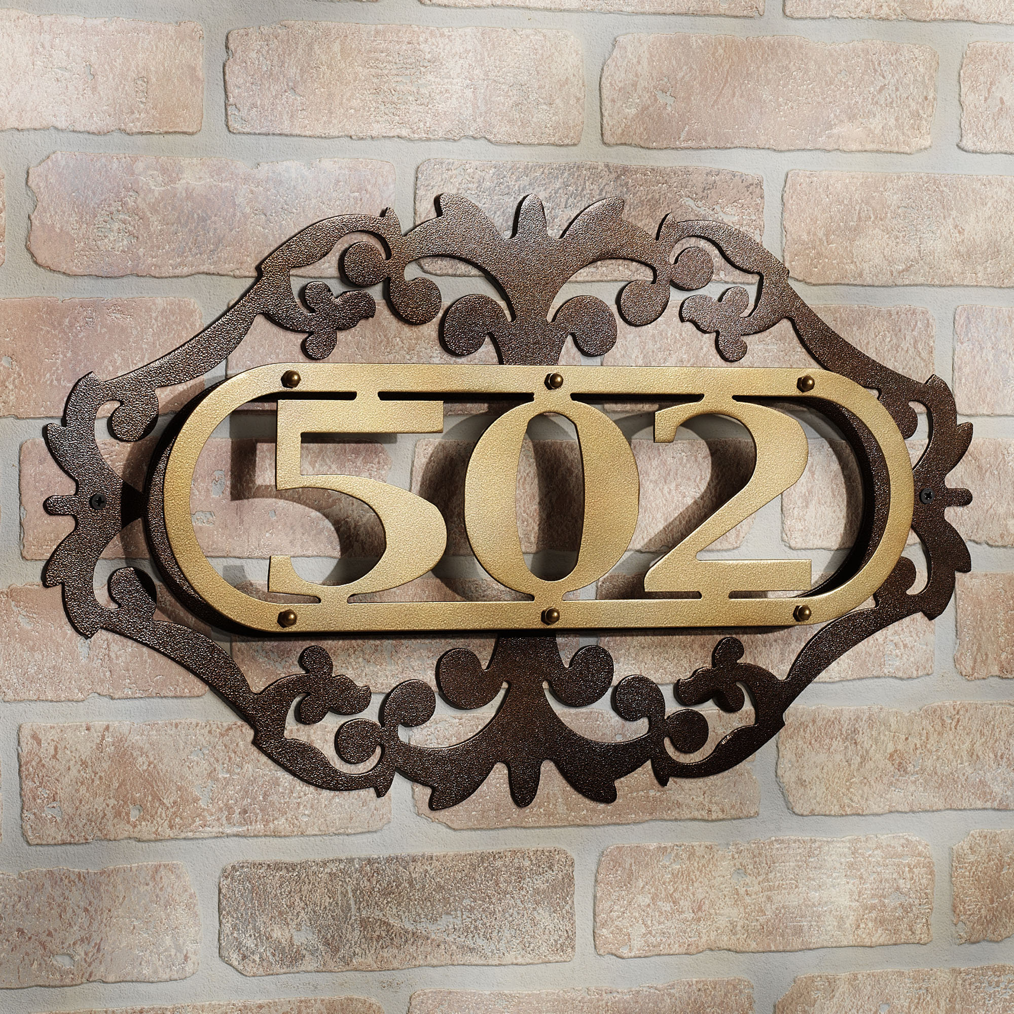 Metal Grille House Number Eagle Roofing