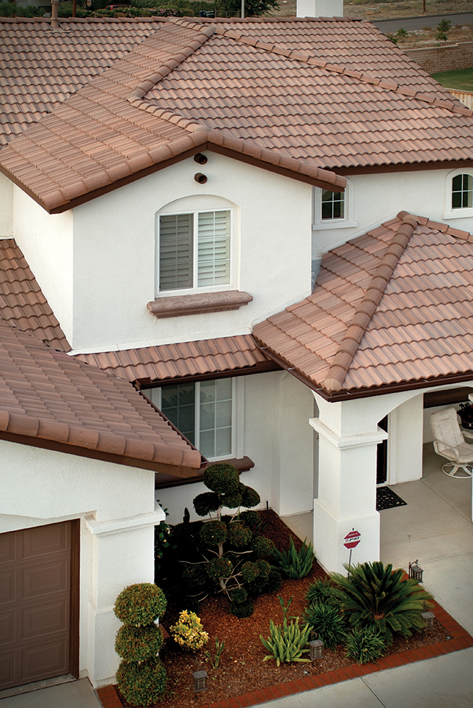 how to clean concrete barrel tile roof